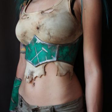 post apocalyptic fighter corset