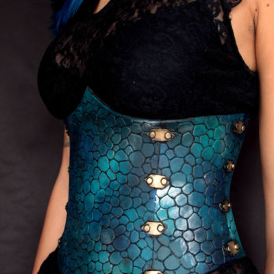 dragon leather corset